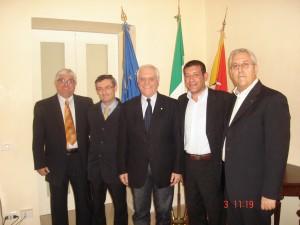 Il Presidente ed i nuovi Assessori 3.4.2012
