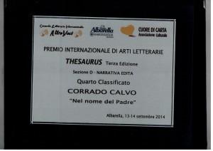 Targa Premio Thesaurus (1)