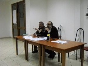 Il sindaco Antonino Savarino e l'assessore Rosario Giunta in un momento dell'incontro