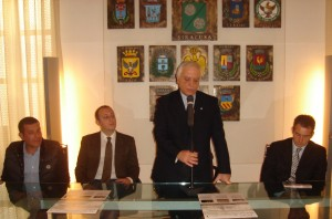 da sinistra Gianni Briante, Gianluca Agati, Nicola BObno e Michele Mangiafico 12.12.2011