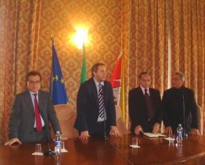 da sinistra Salvatore Mancarella, Nicky Paci,Girolamo Bittolo e Francesco Amore