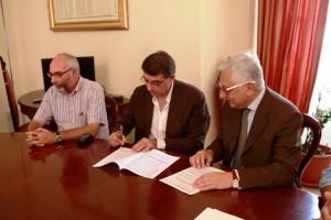 architetto Biagio Bellassai e il commissario straordinario Alessandro Giacchetti