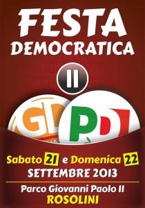 Manifesto festa democratica