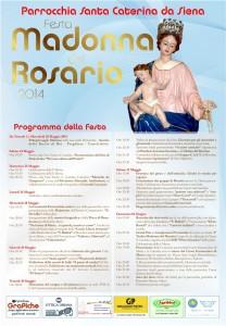 Manifesto Festa Madonna del Rosario 2014