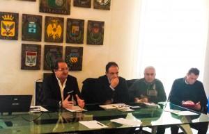 da sinistra Giovanni Battaglia, Giuseppe Taglia, Michele Giglio e Davide Barone